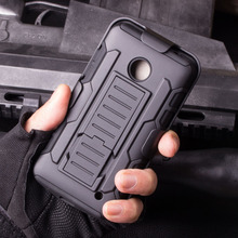 Combo hybrid armor stand mobile phone cover case for Moto E