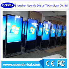 43 50 55 58 inch ultra thin PC all in one capacity 10 points touch screen floor stand lcd advertising display