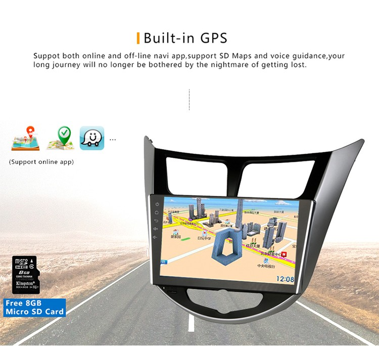 Android 5.1.1 9 Inch steering sheel control Car gps multimedia navigator dvd audio player for K2 New with 1GB RAM 16GB Inand