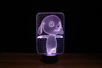 2016 lastest Christmas and Halloween3d lamp mood lamp/decorative night lights for adults/amazing 3d illusion led lamp