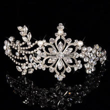 New arrival hair accessories fancy silver plated jewelry bridal crowns and tiaras