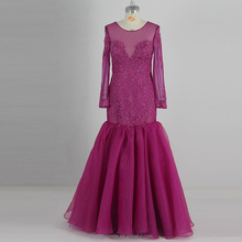 Formal Long Evening Dresses Lace Sleeve Crystal Bodycon Prom Gown Evening Dress For Women 2018 Custom China