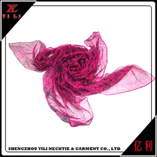 Cheap women China polyester designer scarf in turkey