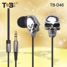 Fashion jewelry 2017 music player mp3 mp4 skull earphones