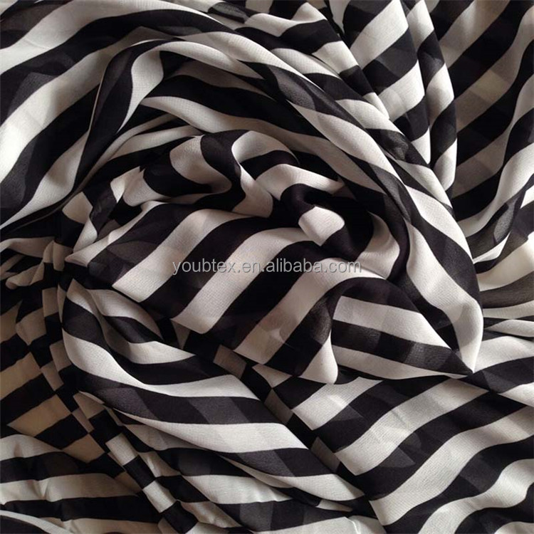 Good reputation factory price 75D 100% polyester black and white fabric