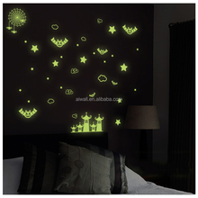 Y0038 Bat Animals Luminous Star Wall Mural /Sticker Spider Quote Wall Decals 3D Embellishments for Home Decor