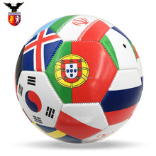 2018 World Cup football 32 country flags promotional soccer ball size 5