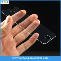 Ultra thin 0.3mm 2.5D 9H tempered glass protector for iphone6s with good price