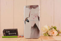 Hard Cover Plastic PC Beautiful Girl IMD Printing Cell Phone Case for iPhone 6S