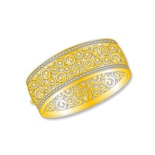 2017new design Wholesale 24ksolid gold bangle jewelry