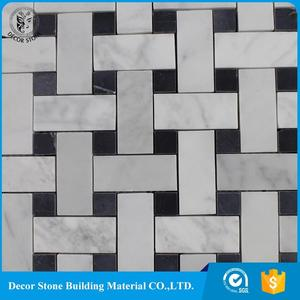 Top Quality white basket weave square tile