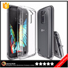 Crystal Case for LG K10 Hybrid 2 in 1 PC TPU shockproof Protective phone back cover case with Dust Cap & Drop