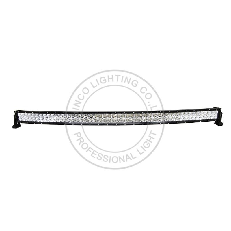 "auto led light arch bent curved 50"" 288w off road light bar SC-18288"