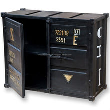 Industrial Shipping Contianer Style Cabinet VAC 862 Zed Black