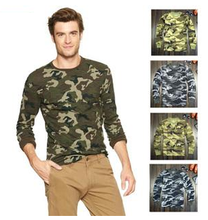 Wholesale military uniforms men's T shirts camouflage men's tee shirts for summer