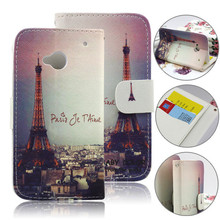 Guangzhou Pinjun printing phone case for htc one m7 flip leather pouch
