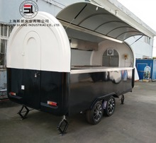 Mobile hot dog ice cream street cart trailer food truck for sale