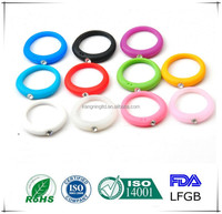 Elastic silicon ring with diamond, silicone wedding ring