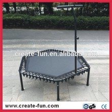 CreateFun New Design Hexagonal Aerobic Workout Fitness Trampoline With T Handle