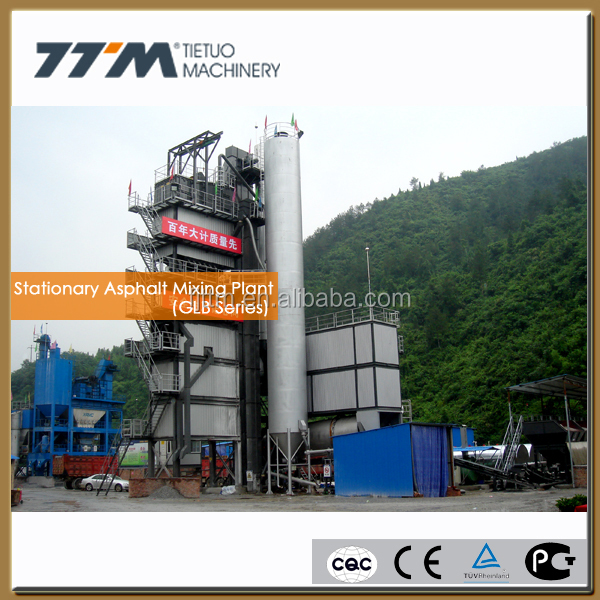 160t/h Stationary asphalt manufacturing plant, asphalt mixing machine,road machinery
