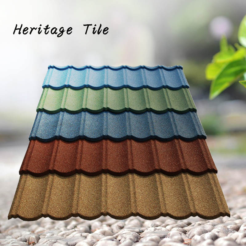 Building Material CE Certificate superb mixed color stone coated steel roof tile/Aluminium Zink roof tile