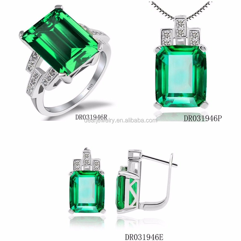 Set Jewellery Women Spinel Green Sets Charms DR031946S-G