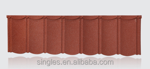 Single metro tiles Roofing sheet bond tiles stone costed metal roofing tiles