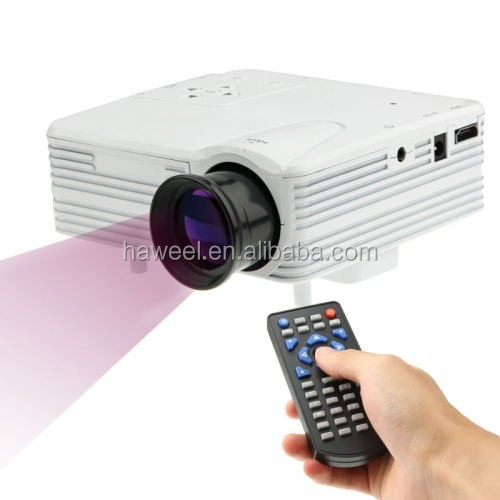 80 lumens 1080P HD Multimedia Mini Portable LED Projector, Support HDMI / VGA / AV / USB / SD Card, Model: H80(White)