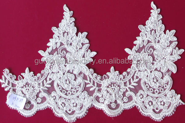 2015 Bridal Corded Lace Trim,Bridal Beaded Lace Trim,Bridal Sequin Lace Trim