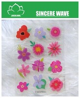 Colorful Flower Epoxy Sticker