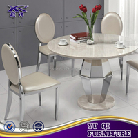 modern stainless steel banquet hall chairs and tables