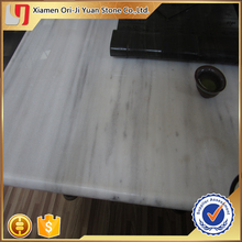 Factory direct sale white marble with veins black vein tiles high quality