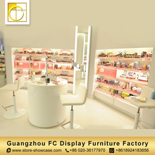 wall mount acrylic shop shelves design cosmetic display cabinet and showcase cosmetic display rack