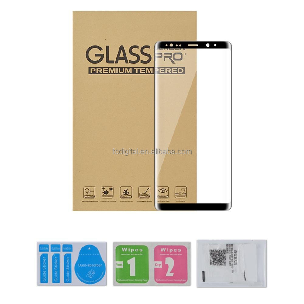 3D Curved Full Cover tempered glass screen protector for Samsung Galaxy note 8 note8