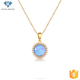 Fashion opal jewellery gold plated pendant necklaces,gemstone necklace