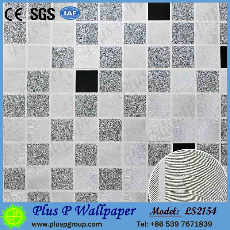Plus P factory manufacture luxury pvc wallpaper fabric backed vinyl wallcovering
