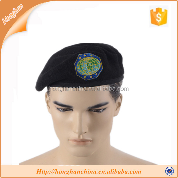 Male dress eyelets adjustable military beret hat
