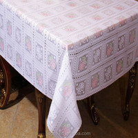 Beautiful flower design PVC wholesale tablecloth cover