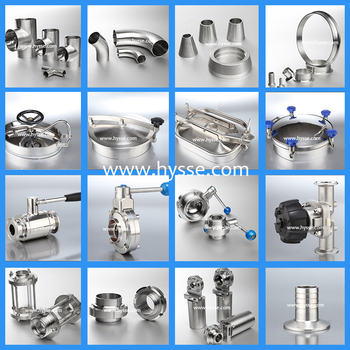 SS304 SS316L Sanitary stainless steel parts ferrule pipe fittings