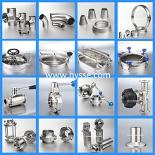 SS304 SS316L Sanitary stainless steel parts fittings