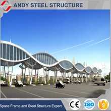 Steel structure space frame architecture drawing