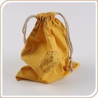 personalized double drawstring cotton muslin bags silk screen logo pouch