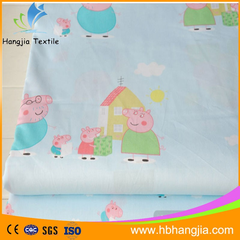 Hot sell bedsheets 100 cotton fabric for baby