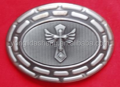 Custom good quality western religious cross belt buckle