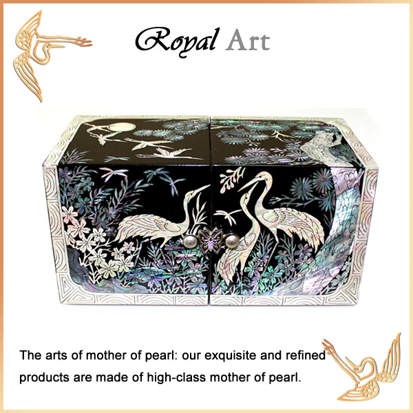 Luxury Jewelry Box with Mother of pearl inlaid; DO-132