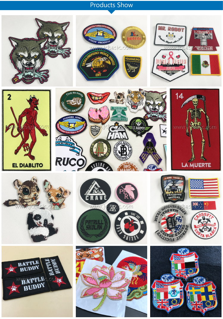 Wholesale Cheap Fashion Embroidered Badges Custom Embroidery Patch