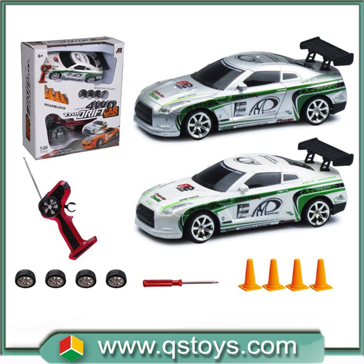 Toys 2015 wireless Control 1:24 4WD rc drift car with light