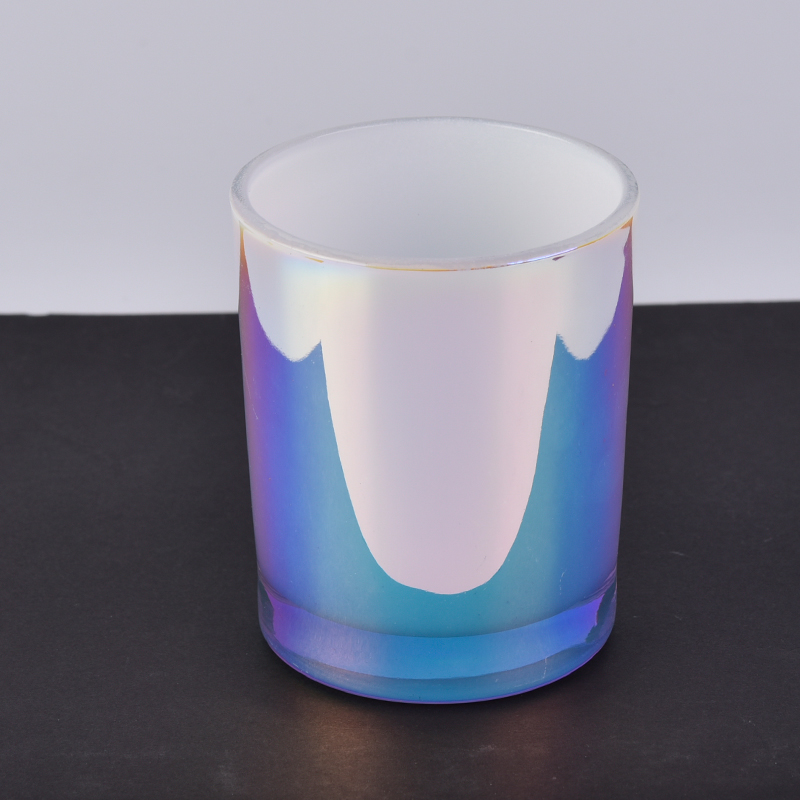 Wedding Home Christmas Gift Holographic Effects Glass Candle Holder