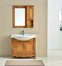 Luxury Thailand imported Oak Chinese style classic wooden bathroom cabinet