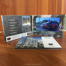 Quality guaranteed electronic video brochure card Lcd 7 inch video player mailer with sleeve